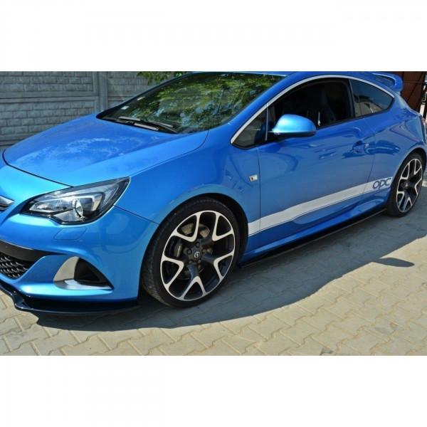Seitenschweller Ansatz passend für Opel Astra J OPC / VXR Carbon Look