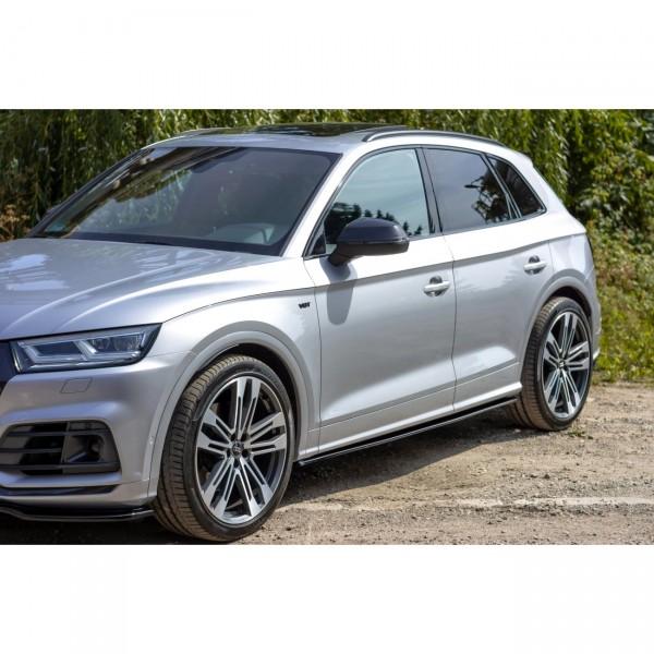 Seitenschweller Ansatz passend für Audi SQ5/Q5 S-line MkII schwarz Hochglanz