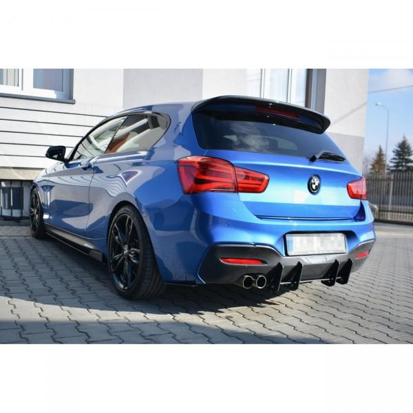 BMW 1er F20/F21 M-POWER FACELIFT - Diffusor Heck Ansatz passend für Heckschürze passend für V.1
