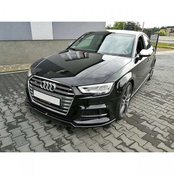Front Ansatz passend für V.2 Audi S3 8V Facelift schwarz Hochglanz