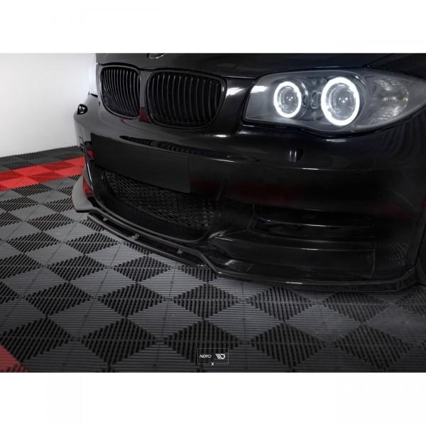 Front Ansatz passend für V.1 BMW 1er E82 FACELIFT M Paket schwarz Hochglanz