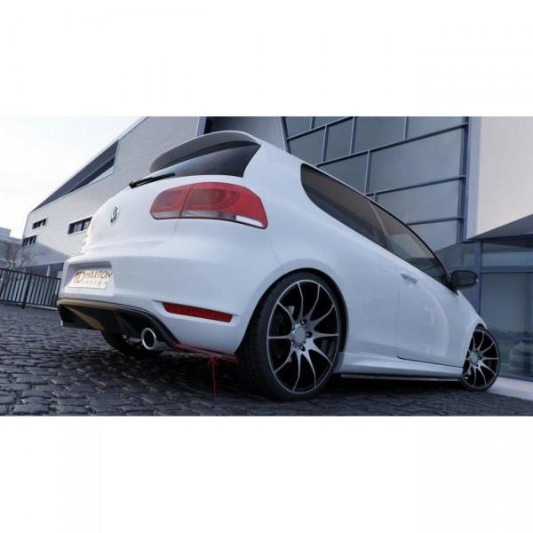 Heck Ansatz Flaps Diffusor passend für VW GOLF 6 GTI 35TH Carbon Look