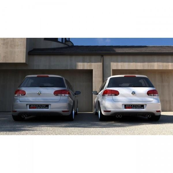 Heckschürze passend für VW GOLF 6 MIT 2 AUSPUFF schwarz matt