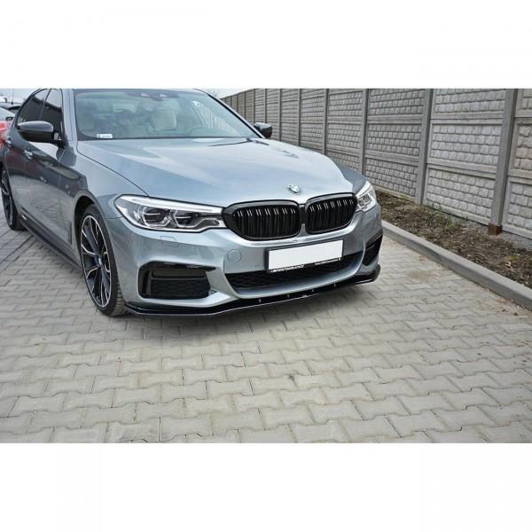 Front Ansatz passend für V.1 BMW 5er G30/ G31 M-Paket schwarz Hochglanz