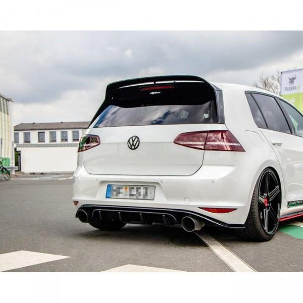 Diffusor Heck Ansatz passend für VW GOLF Mk7 GTI CLUBSPORT Carbon Look