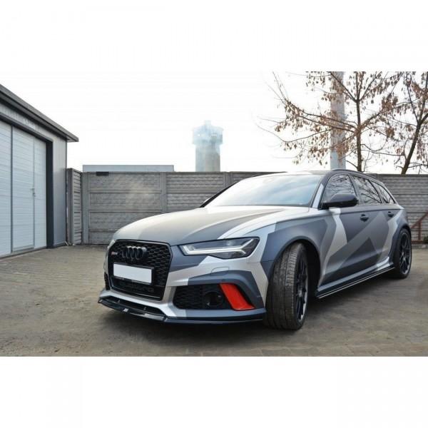 Front Ansatz passend für v.2 AUDI RS6 C7 Carbon Look