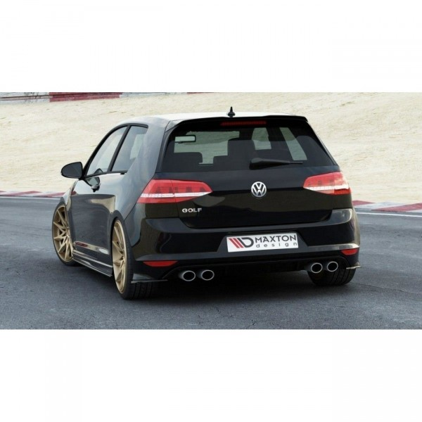 Heck Ansatz Flaps Diffusor passend für VW GOLF 7 R schwarz Hochglanz