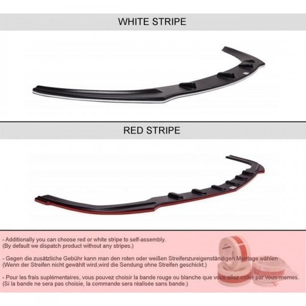 Mittlerer Diffusor Heck Ansatz passend für AUDI S6 C7 AVANT im DTM LOOK schwarz Hochglanz