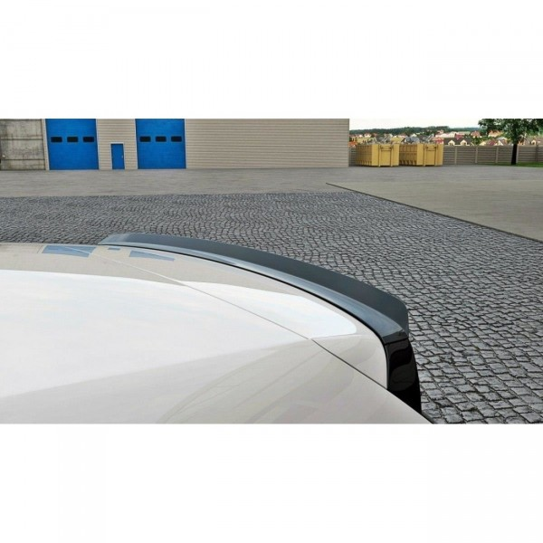 Spoiler CAP passend für VW POLO MK5 GTI Facelift schwarz matt