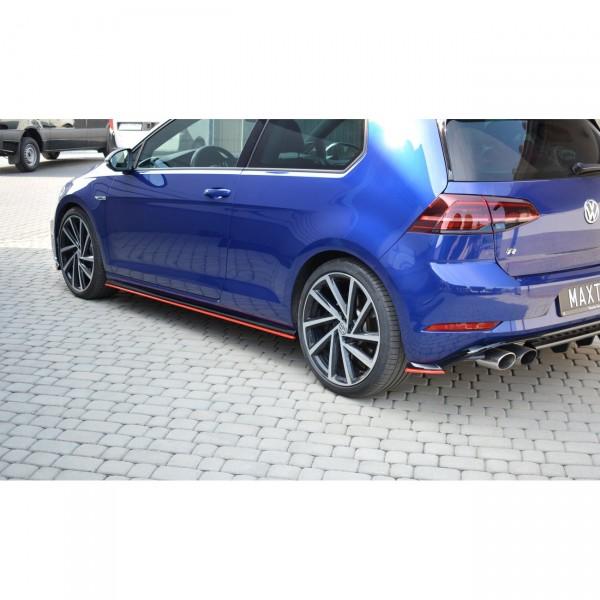 Seitenschweller Ansatz passend für V.2 VW GOLF 7 R FACELIFT schwarz matt