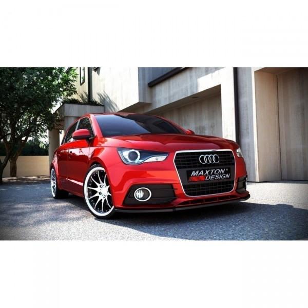 Front Ansatz passend für AUDI A1 vor Facelift Carbon Look