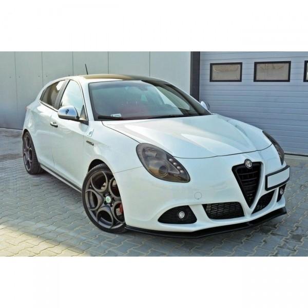Front Ansatz passend für v.1 Alfa Romeo Giulietta schwarz Hochglanz