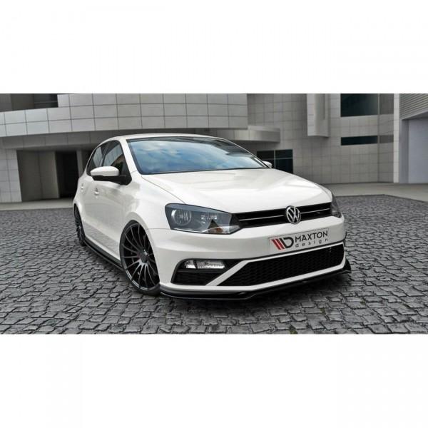 Front Ansatz passend für v.2 VW POLO MK5 GTI Facelift schwarz Hochglanz