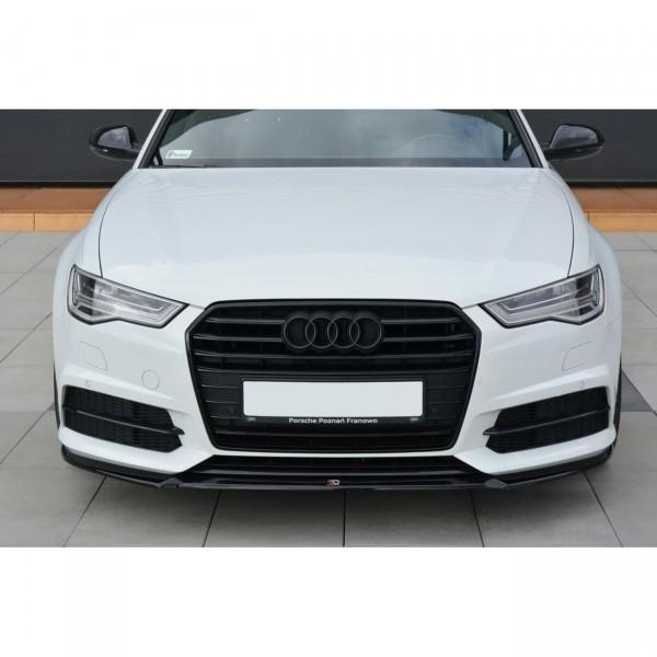 Front Ansatz passend für V.1 Audi A6 C7 S-line/ S6 C7 Facelift schwarz matt