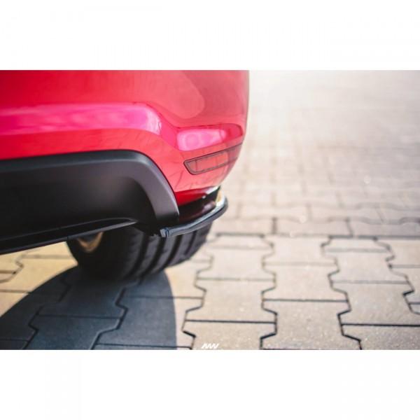 Heck Ansatz Flaps Diffusor passend für VOLKSWAGEN POLO MK5 GTI 6R vor Facelift Carbon Look