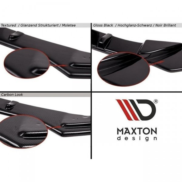 Front Ansatz passend für v.2 SKODA OCTAVIA III RS PREFACE/FACELIFT Carbon Look