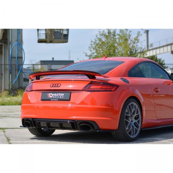 Spoiler CAP passend für Audi TT Mk3 (8S) RS schwarz Hochglanz
