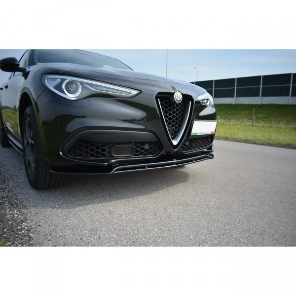 Front Ansatz passend für V.2 Alfa Romeo Stelvio Carbon Look