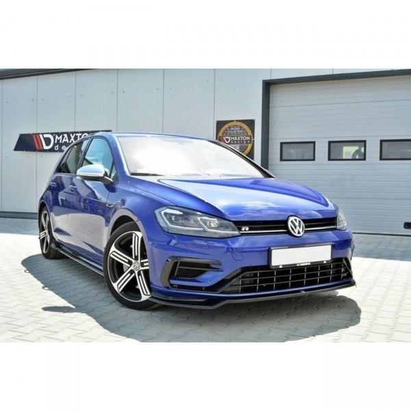 Front Ansatz passend für v.3 VW GOLF 7 R Facelift schwarz matt
