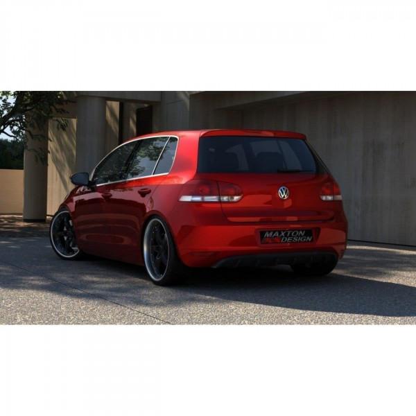 Heckschürze passend für VW GOLF 6 OHNE AUSPUFF schwarz matt