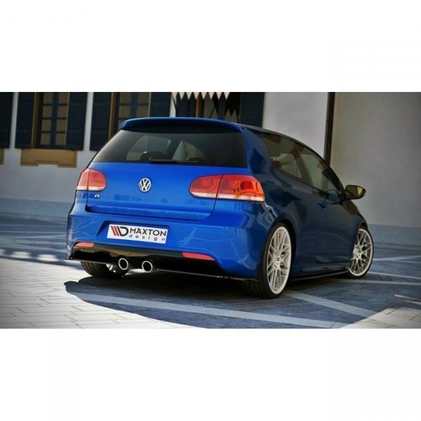 Heck Ansatz Flaps Diffusor passend für VW GOLF 6 R Carbon Look