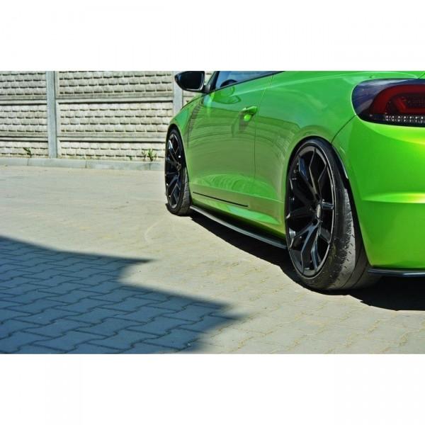 Seitenschweller Ansatz passend für VW SCIROCCO R schwarz matt