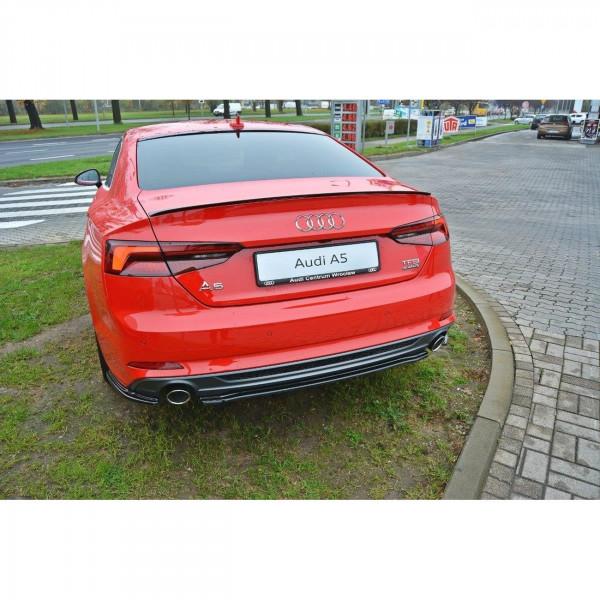 Mittlerer Diffusor Heck Ansatz passend für Audi A5 F5 S-Line schwarz matt