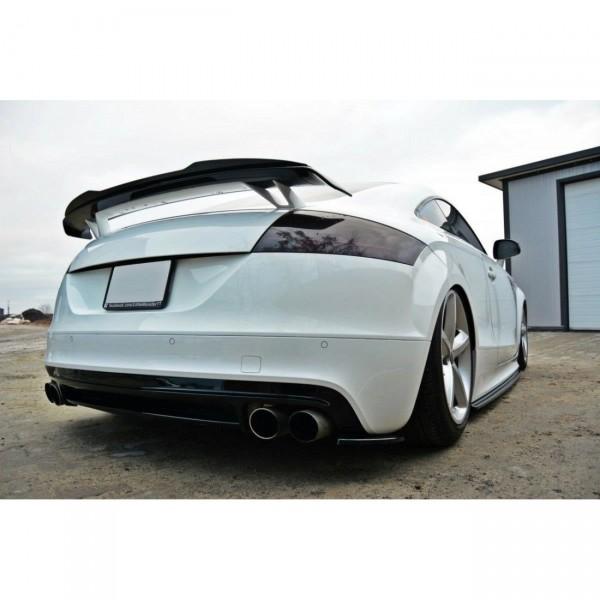 Heck Ansatz Flaps Diffusor passend für AUDI TT MK2 RS Carbon Look