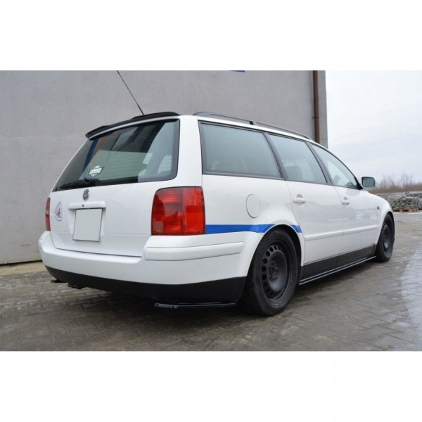 Heck Ansatz Flaps Diffusor passend für VW PASSAT B5 Kombi schwarz matt