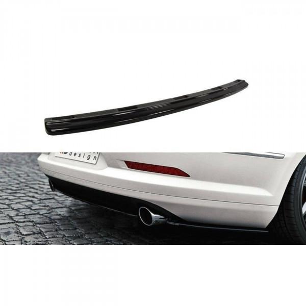 Mittlerer Diffusor Heck Ansatz passend für VW Passat CC R36 RLINE (vor Facelift) schwarz matt