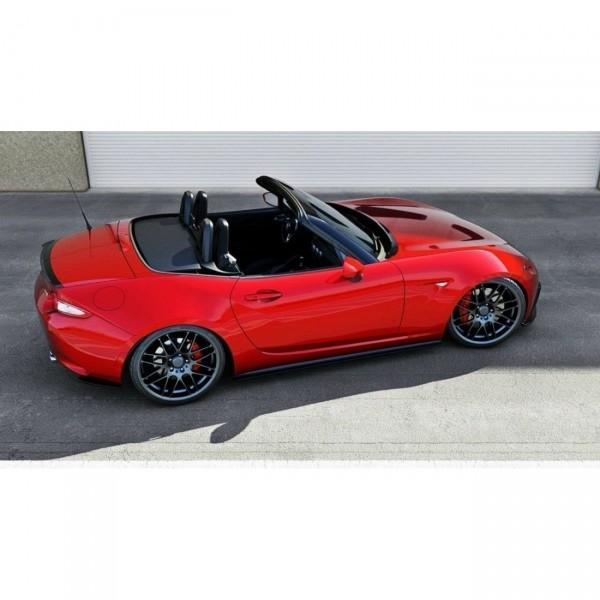 Mk3 Facelift schwarz Hochglanz Heck Spoiler Aufsatz Mazda 3 BM