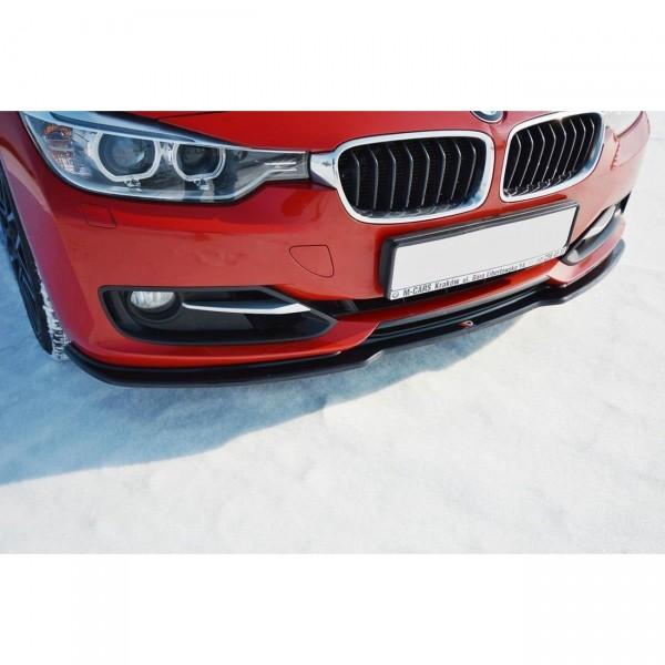 Front Ansatz passend für V.1 BMW 3er F30 schwarz matt