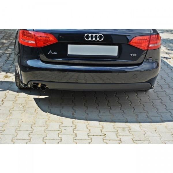 Heck Ansatz Flaps Diffusor passend für AUDI A4 B8 (vor Facelift) Carbon Look
