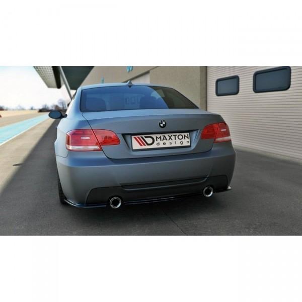 Heck Ansatz Flaps Diffusor passend für BMW 3er E92 M Paket schwarz Hochglanz