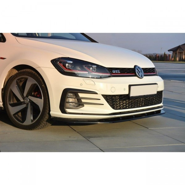 Front Ansatz passend für VW GOLF 7 GTI FACELIFT V.1 schwarz Hochglanz