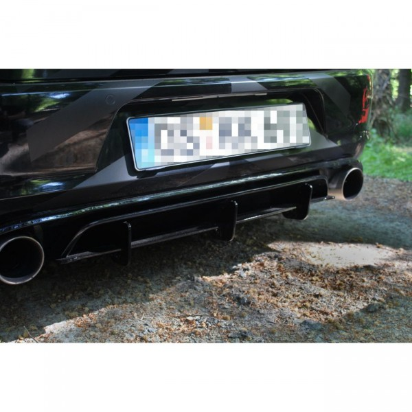 Diffusor Heck Ansatz passend für Heckschürze passend für VW GOLF 7 GTI CLUBSPORT