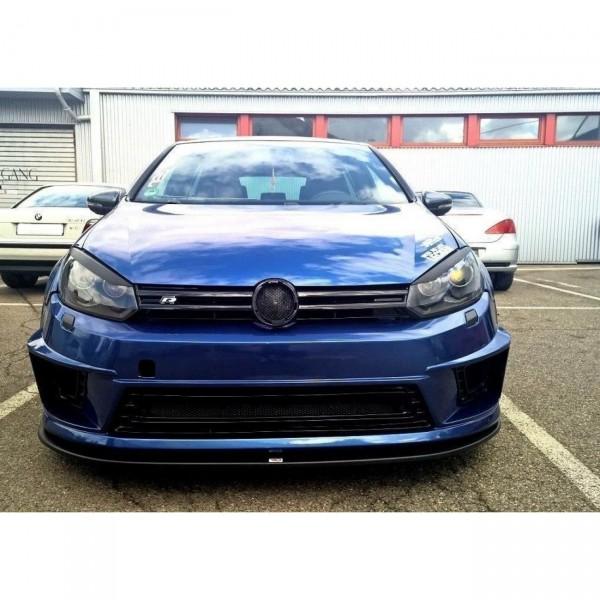 Front Ansatz passend für VW GOLF 6 (für R400 Stoßstange) Carbon Look