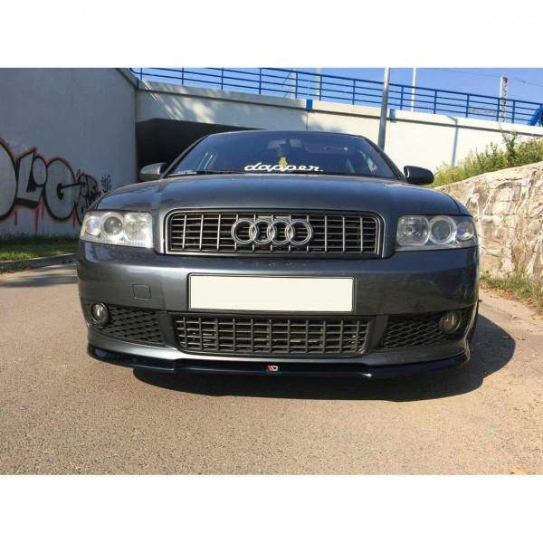 Front Ansatz passend für V.1 Audi A4 B6 S-Line schwarz Hochglanz