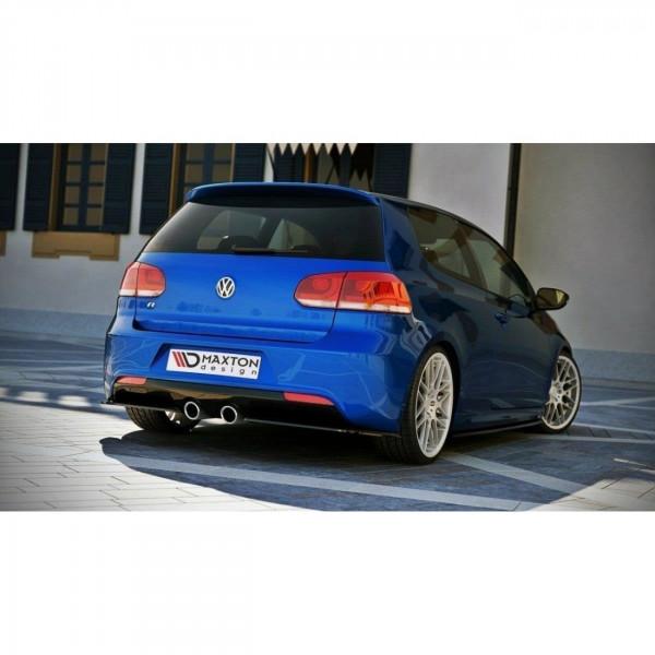 Heck Ansatz Flaps Diffusor passend für VW GOLF 6 R schwarz Hochglanz