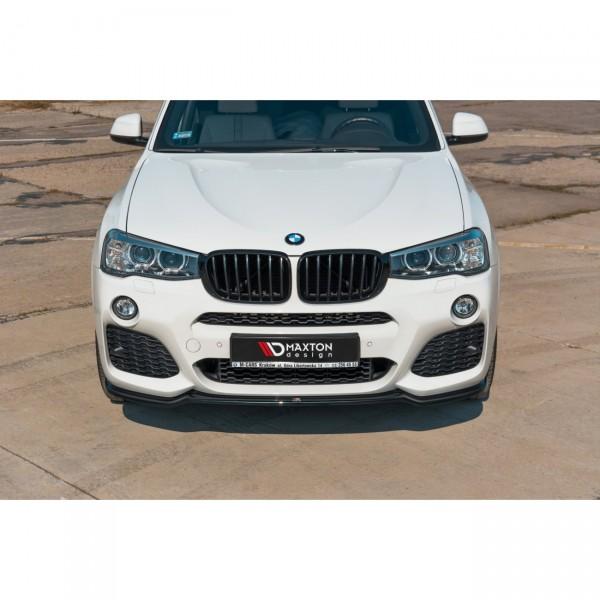 Front Ansatz passend für BMW X3 F25 M-Paket Facelift schwarz matt