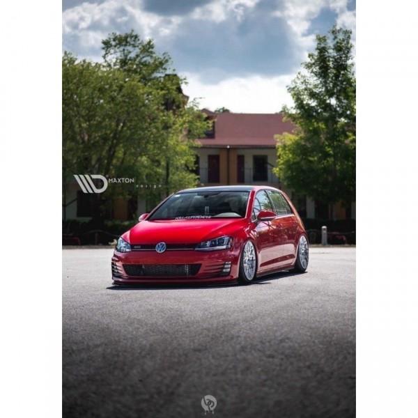 Front Ansatz passend für VW GOLF 7 GTI schwarz matt