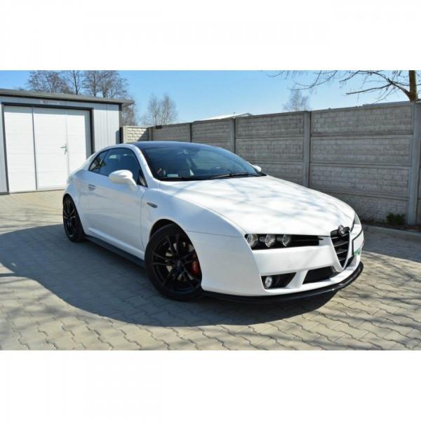 Seitenschweller Ansatz passend für Alfa Romeo Brera schwarz matt