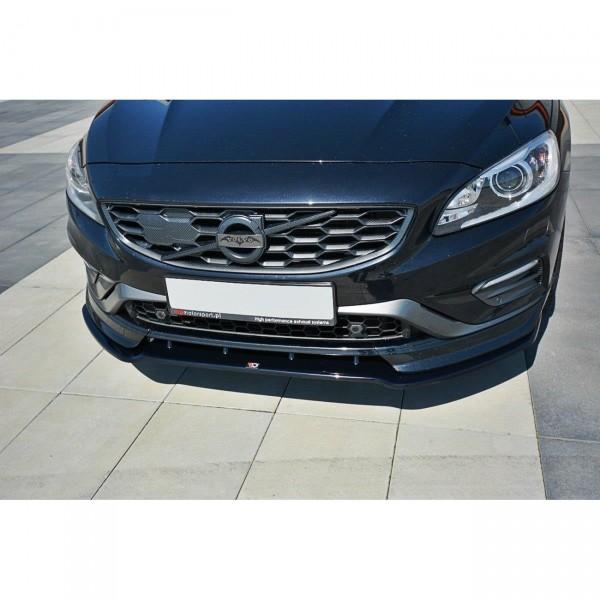 Front Ansatz passend für V.1 Volvo V60 Polestar Facelift schwarz Hochglanz