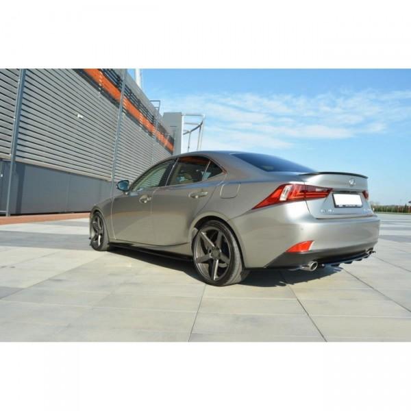 Mittlerer Diffusor Heck Ansatz passend für Lexus IS Mk3 T DTM LOOK schwarz matt