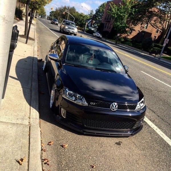 Front Ansatz passend für VW JETTA VI GLI schwarz Hochglanz