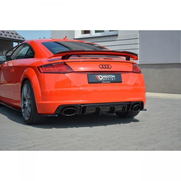 Diffusor Heck Ansatz passend für Audi TT Mk3 (8S) RS Carbon Look
