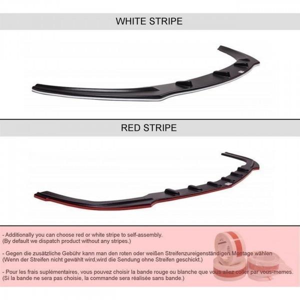 Mittlerer Diffusor Heck Ansatz passend für AUDI A7 S-LINE (FACELIFT) schwarz matt