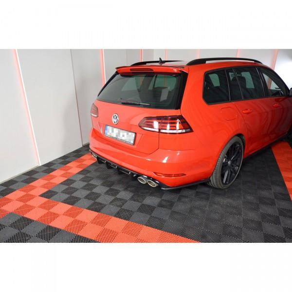 Diffusor Heck Ansatz passend für VW GOLF 7 R VARIANT FACELIFT Carbon Look