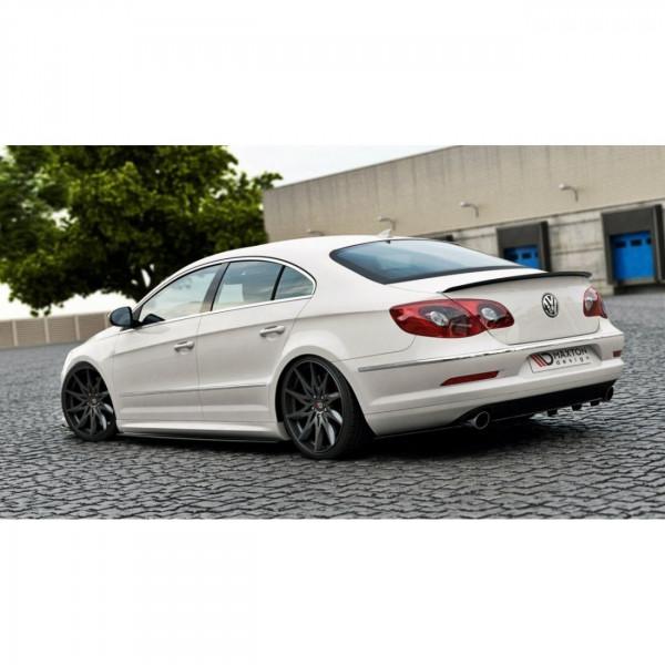 Mittlerer Diffusor Heck Ansatz passend für VW Passat CC R36 RLINE (vor Facelift) DTM LOOK schwarz Ho