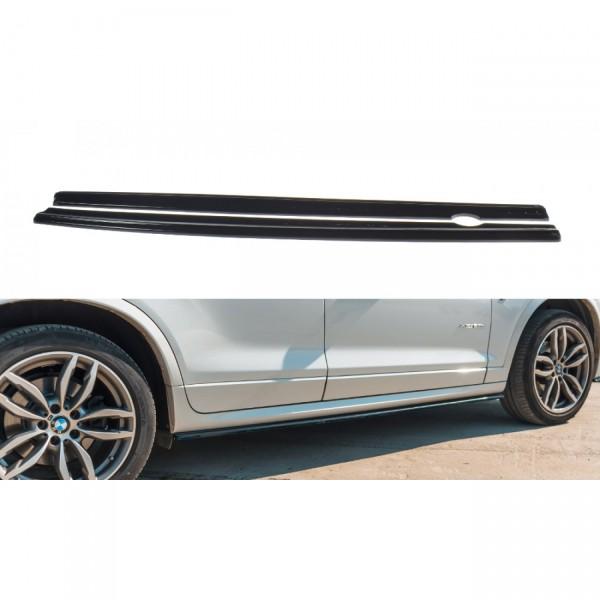 Seitenschweller Ansatz passend für BMW X3 F25 M-Paket Facelift Carbon Look